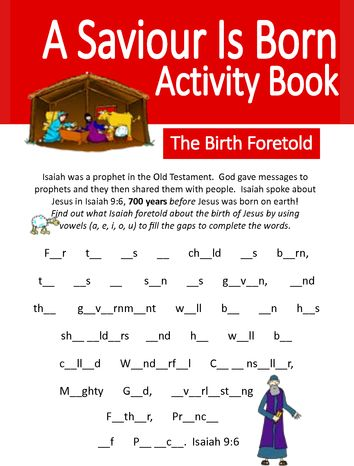 A Saviour is Born - Primary Activity Book
