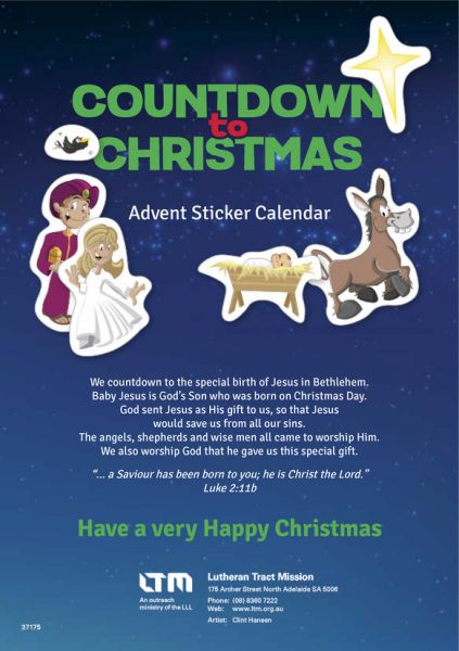 Countdown to Christmas - Advent sticker calendar