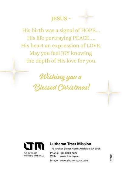 joy love hope peace lutheran tract mission ltm. Black Bedroom Furniture Sets. Home Design Ideas