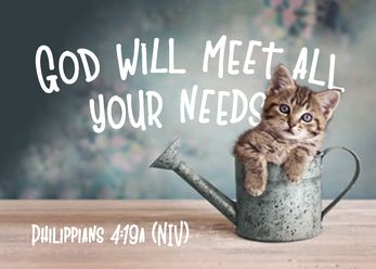 God will meet all your needs