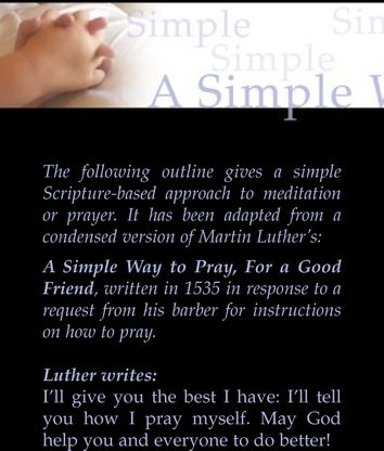 Martin Luther on 'A simple way to pray for a good friend'