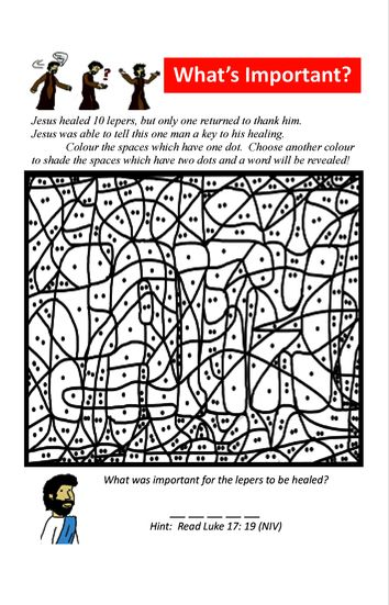 10 Lepers One man thanks Jesus Activity Book
