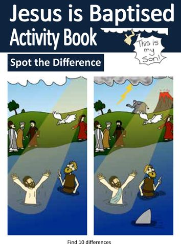 Jesus is Baptised Activity Book