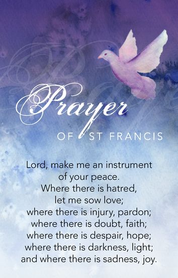 Prayer of St Francis