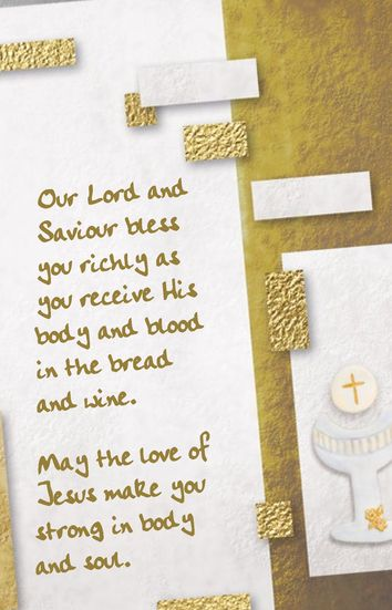 Blessings as you celebrate your First Communion