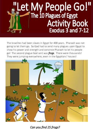Let my people go - The 10 plagues of Egypt Activity Book