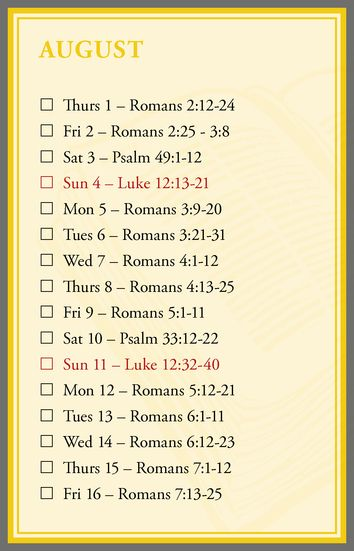 Daily Bible Readings 2019