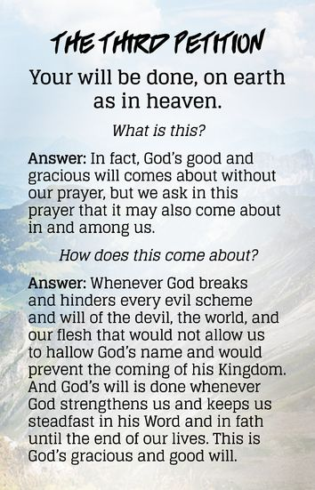 The Lords Prayer and Explanations