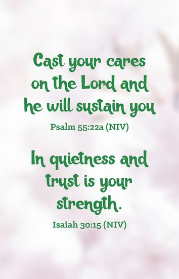 Give your cares to God