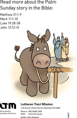 king jesus rides a donkey cartoon