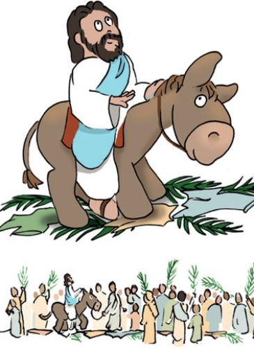 clipart jesus on donkey - photo #23